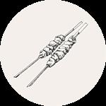Pinchos-brochetas